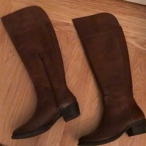 Vince Camuto Tall Brown Leather Riding Boots